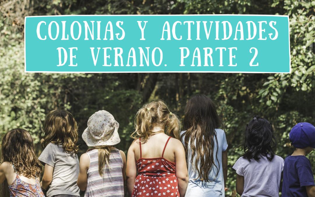 Colonias y actividades de verano para niños 2